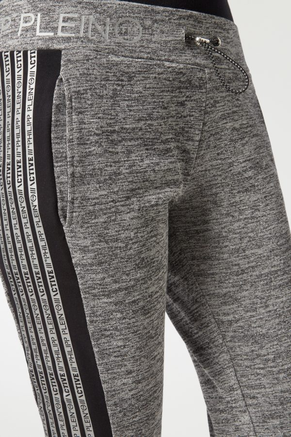 Серые спортивные брюки с лампасами Philipp Plein