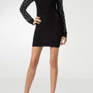 Вязаное платье черного цвета Philipp Plein