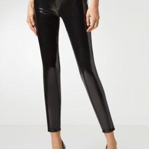 Черные лакированные брюки Philipp Plein