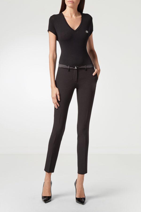 Черные укороченные брюки Philipp Plein