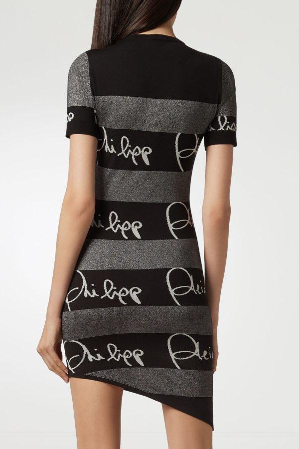 Платье с логотипами Philipp Plein