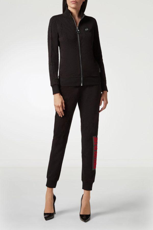 Черные брюки с отделкой Philipp Plein