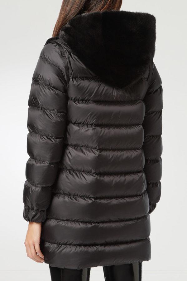 Черная комбинированная куртка Philipp Plein