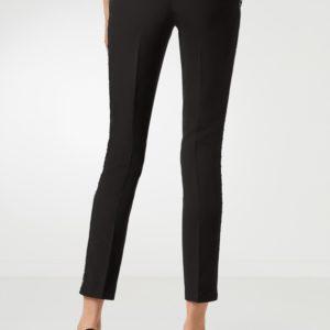 Черные брюки со стрелками и металлической отделкой Philipp Plein