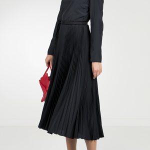 Черное платье-миди с плиссировкой Red Valentino