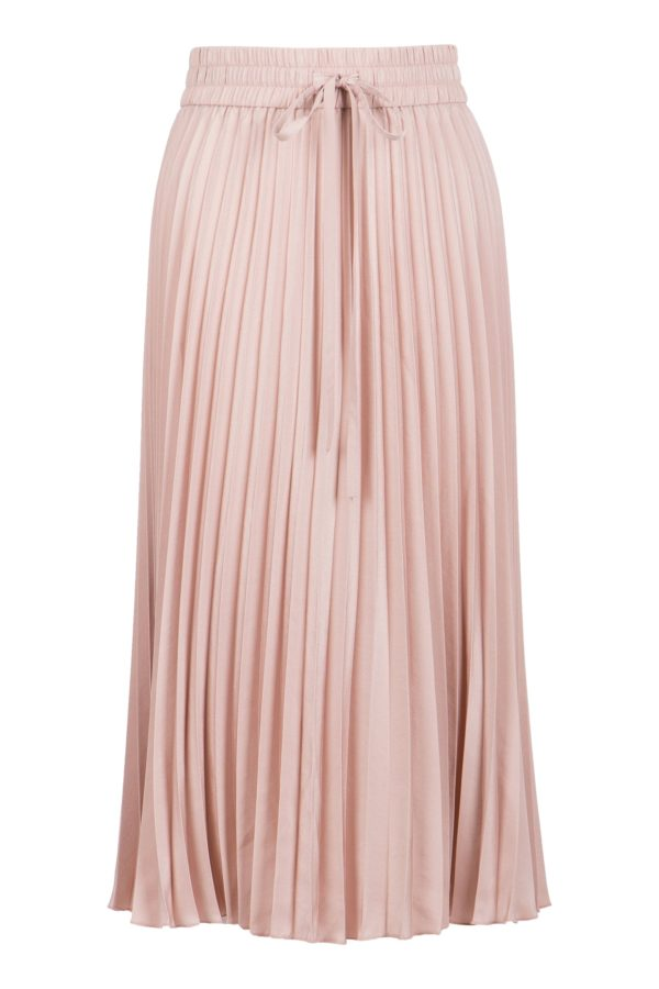 Нежно-розовая плиссированная юбка-миди Red Valentino