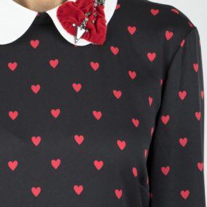 Черное платье-миди с узорами и аппликацией Red Valentino
