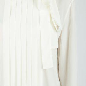 Белая блузка с отделкой и бантом Red Valentino