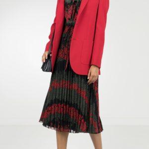 Удлиненный жакет красного цвета Red Valentino