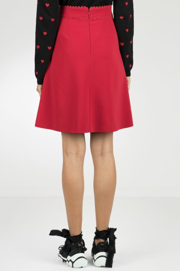 Красная юбка-мини с накладными карманами Red Valentino