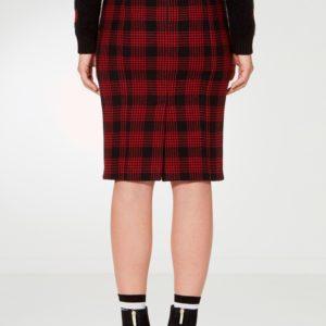 Черная юбка-футляр в клетку Red Valentino
