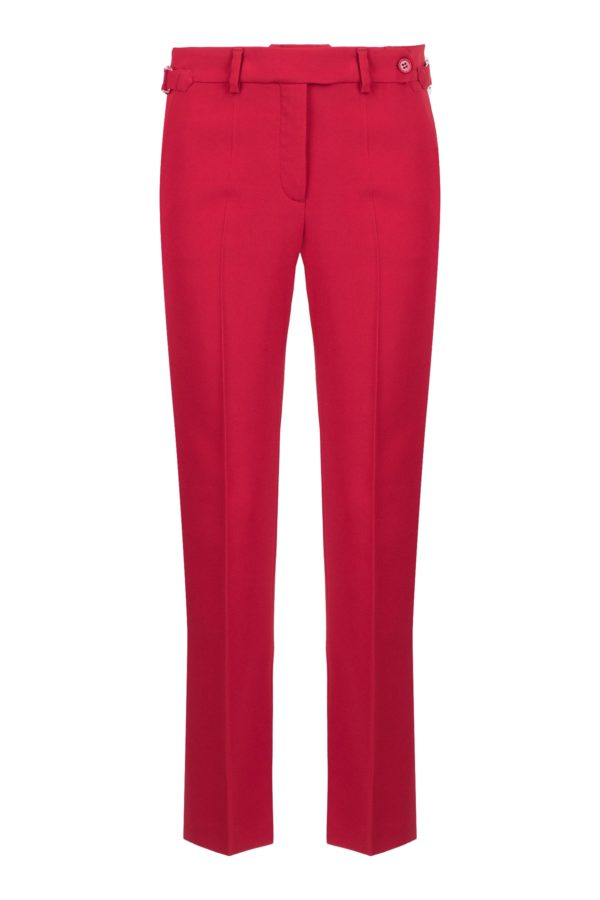 Красные базовые брюки со стрелками Red Valentino