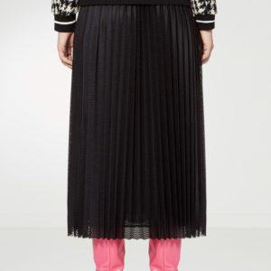 Черная плиссированная юбка-миди с рисунком Red Valentino