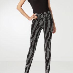 Черные облегающие брюки с декором Philipp Plein