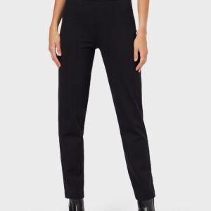 Обтягивающие брюки из трикотажа Milano с атласной лентой EMPORIO ARMANI