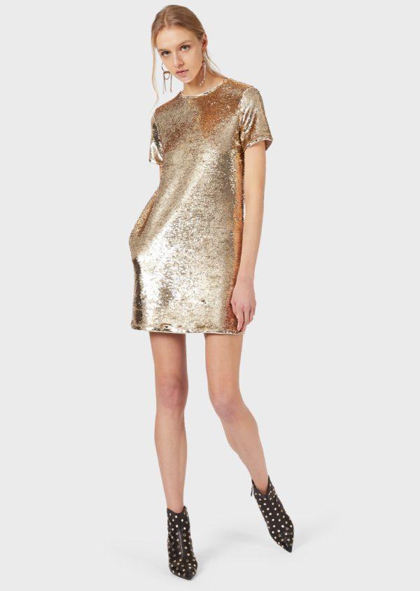 Платье с блестками EMPORIO ARMANI