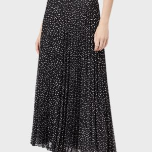 Длинная юбка из крепона с жаккардовым мотивом в горошек EMPORIO ARMANI