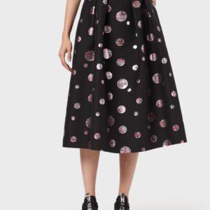 Пышная юбка с жаккардовым горошком EMPORIO ARMANI