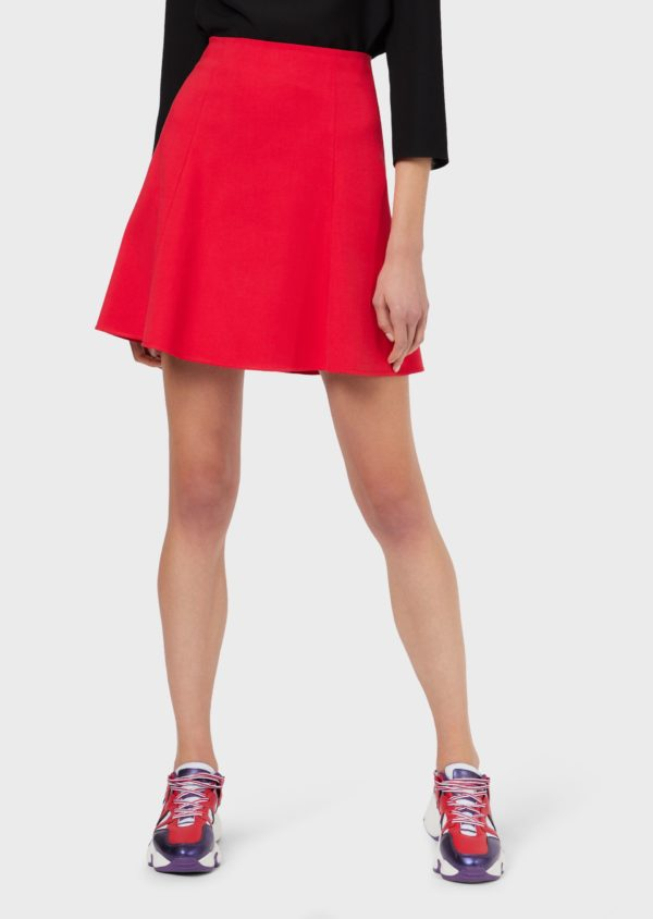 Расклешенная юбка из хлопка кутюр EMPORIO ARMANI