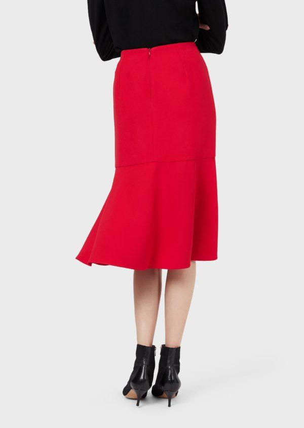 Креповая юбка Cady с оборкой EMPORIO ARMANI
