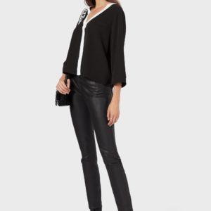 Блузка Cady с V-образным вырезом и рукавами 3/4 EMPORIO ARMANI