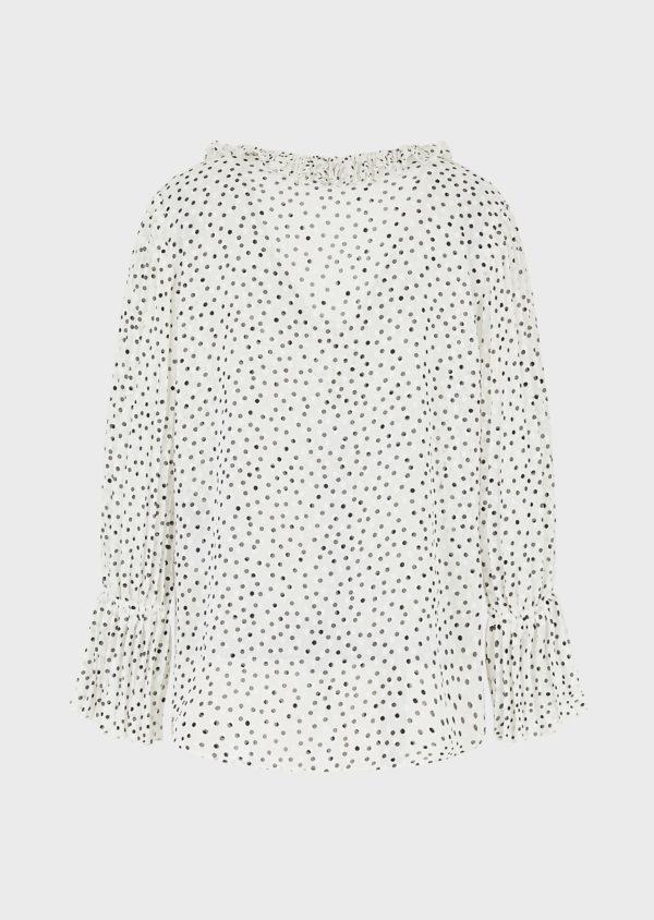 Блуза Crepon с жаккардовым мотивом EMPORIO ARMANI