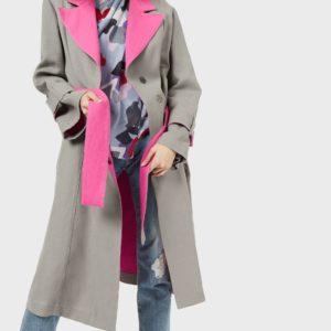Шифоновая блуза с драпировкой и цветочным мотивом EMPORIO ARMANI