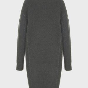 Однобортное пальто из вареной шерсти EMPORIO ARMANI