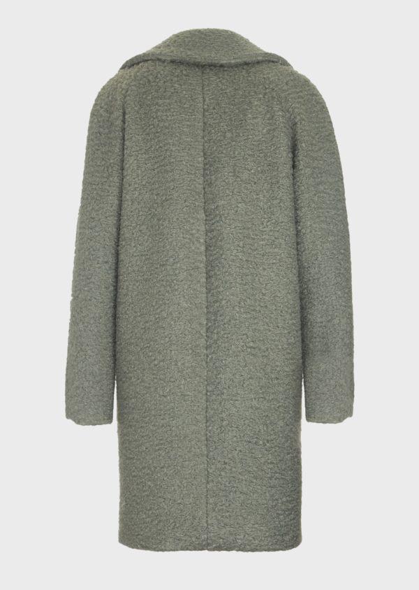 Пальто из ткани с эффектом астрахани EMPORIO ARMANI