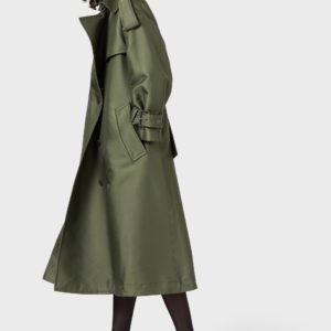 Пальто двубортное с поясом и эмблемой EMPORIO ARMANI