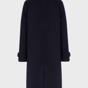 Пальто из натуральной шерсти с внутренней рубашкой без рукавов EMPORIO ARMANI