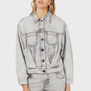Куртка из денима с мраморным эффектом EMPORIO ARMANI