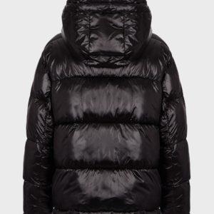 Стеганая куртка из глянцевого нейлона EMPORIO ARMANI