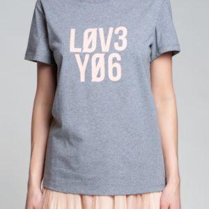 "Серая меланжевая футболка ""Love You"" Red Valentino"