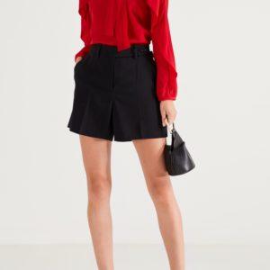 Красная шелковая блузка с оборкой Red Valentino