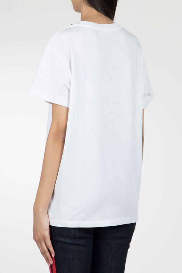 Белая футболка с трафаретным принтом Red Valentino