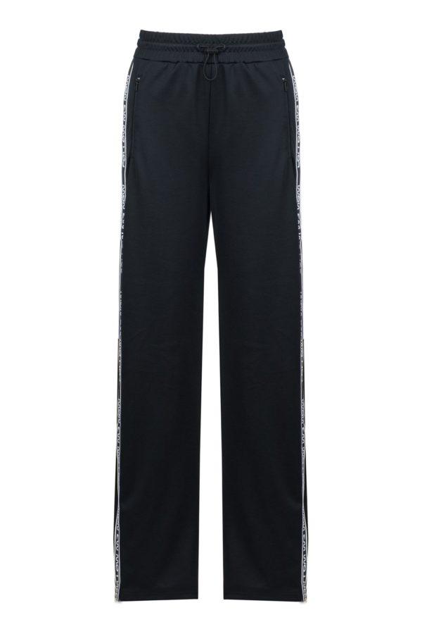 Черные брюки-джоггеры с лампасами Red Valentino