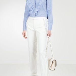 Белые брюки с кнопками Red Valentino