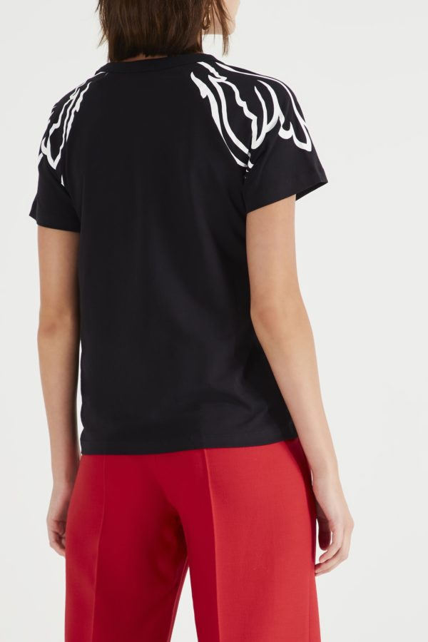 Черная футболка с рисунком Red Valentino
