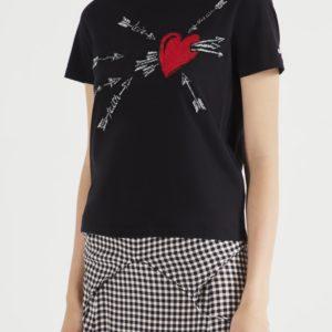 Черная футболка с принтом Red Valentino